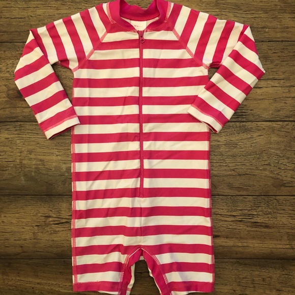 b265e97666cdff Hanna Andersson Other - Hanna Andersson Pink Striped Rash Guard Suit